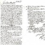 Original-Urkunde der Feuerwehr Minfeld