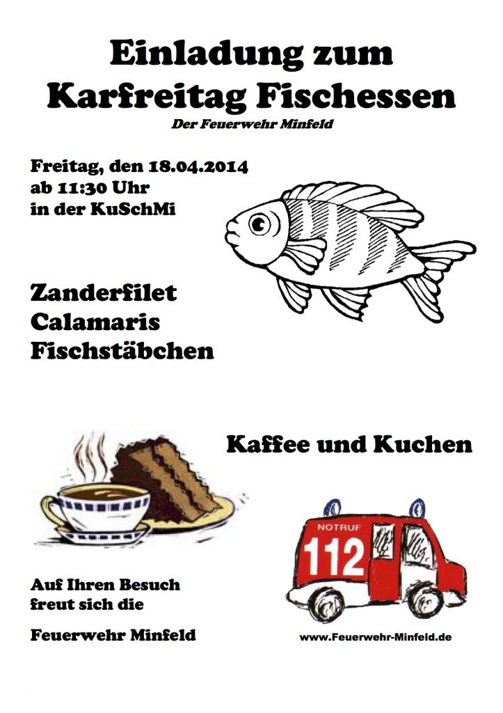Karfreitag Fischessen Flyer