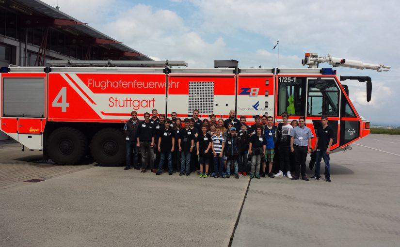 Ausflug der Jugendfeuerwehren der VG Kandel zur Flughafenfeuerwehr Stuttgart