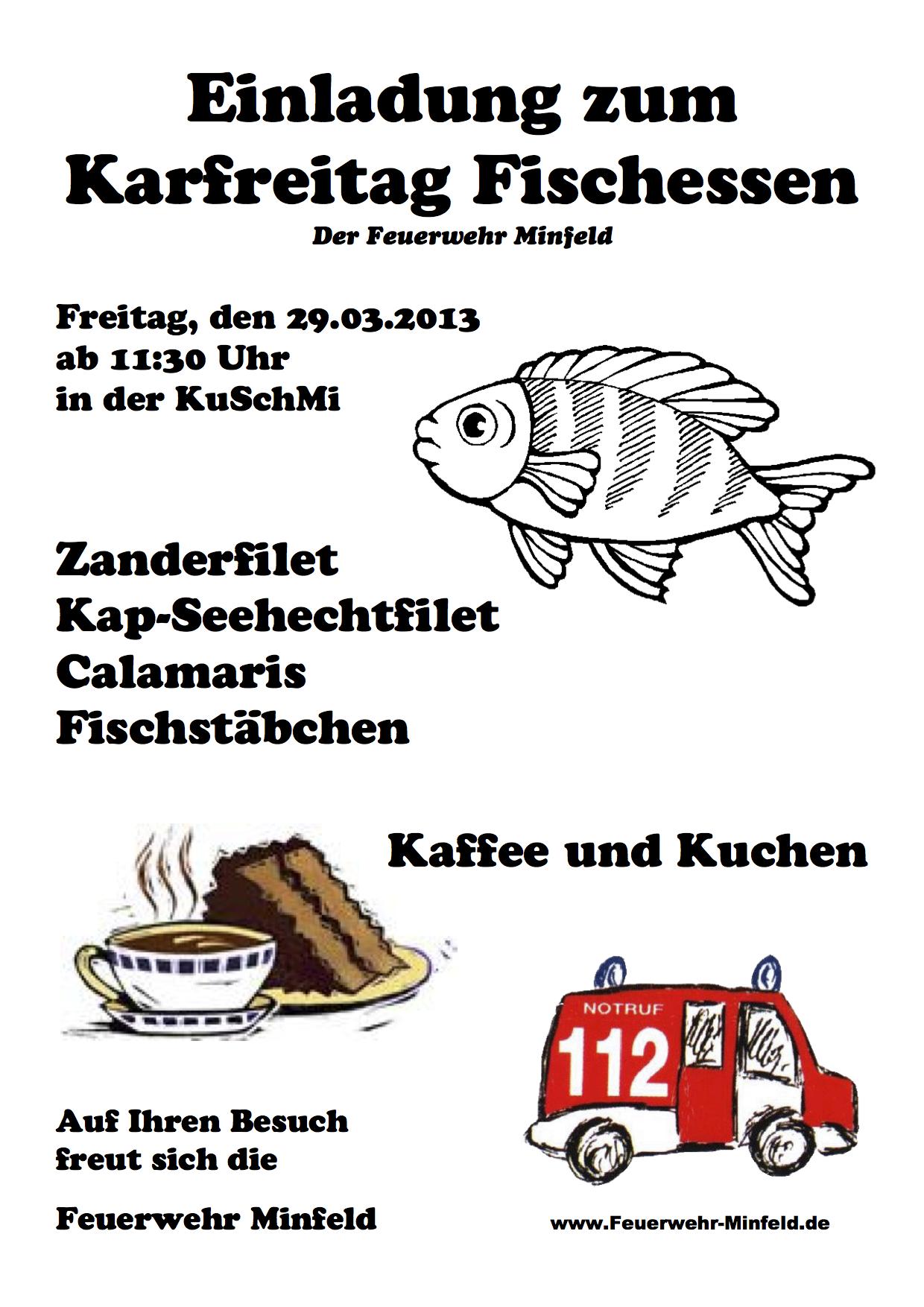 Flyer Karfreitagfischessen 2013
